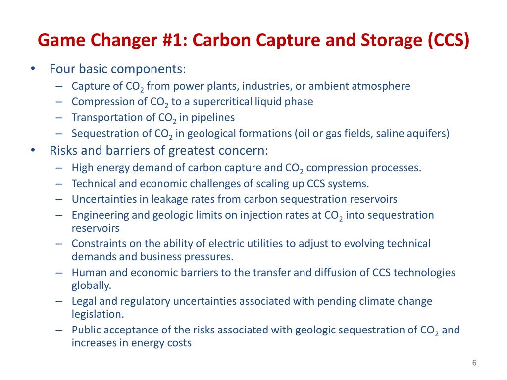 Game Changer #1: Carbon Capture and Storage (CCS)