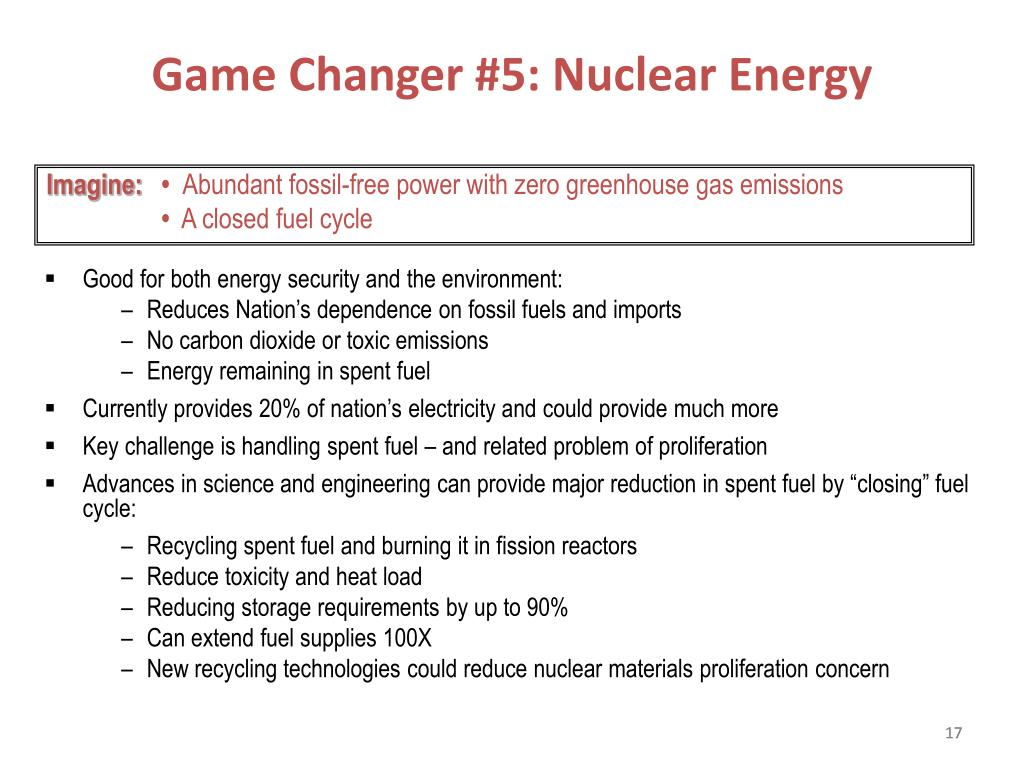 Game Changer #5: Nuclear Energy