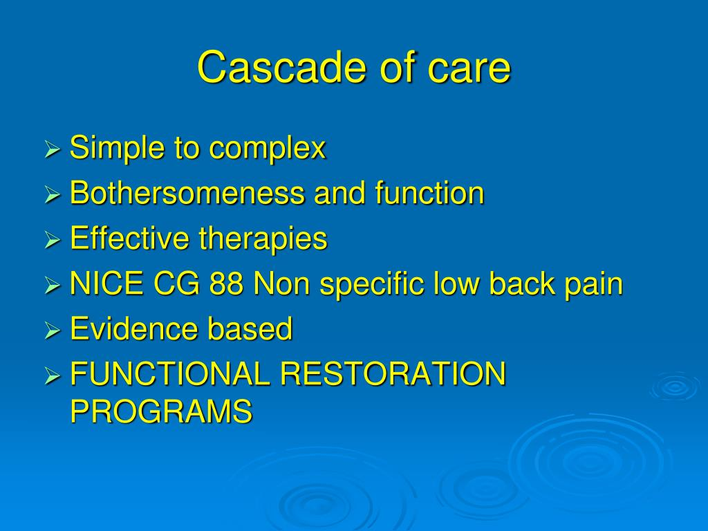 Cascade of care