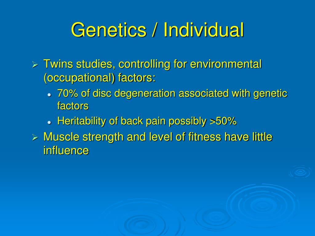 Genetics / Individual