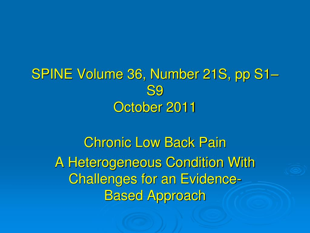 SPINE Volume 36, Number 21S,