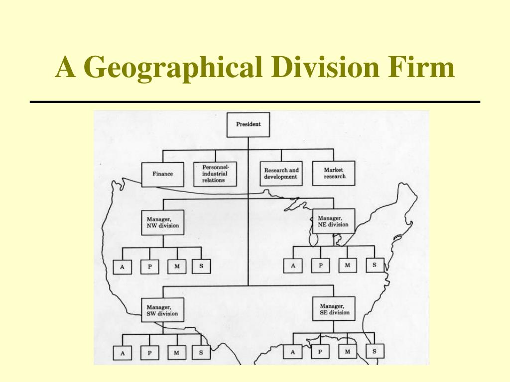 A Geographical Division Firm