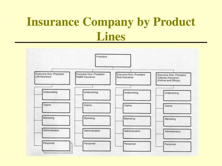 Insurance company by product lines