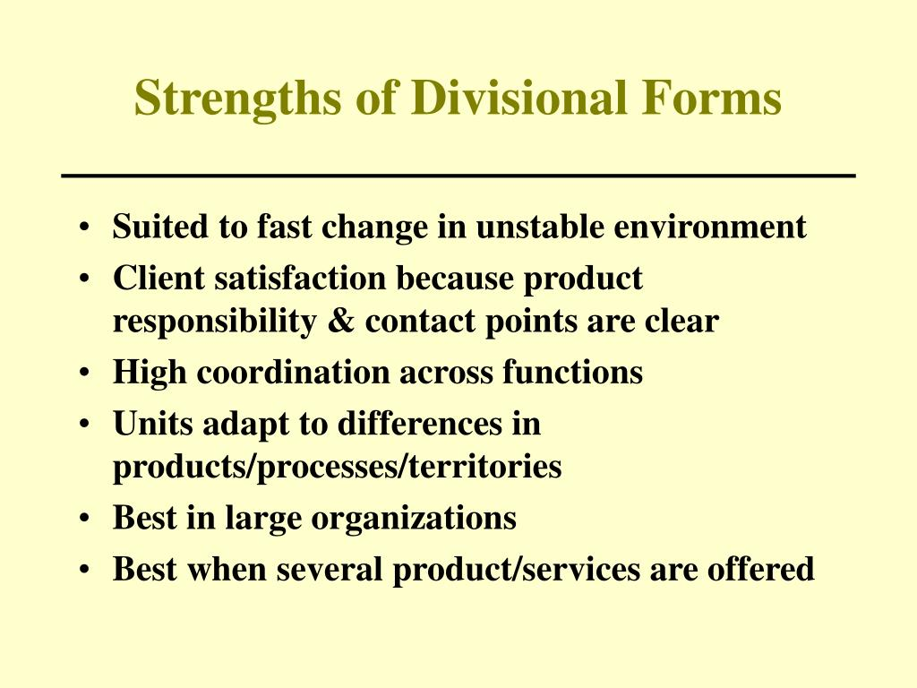 Strengths of Divisional Forms