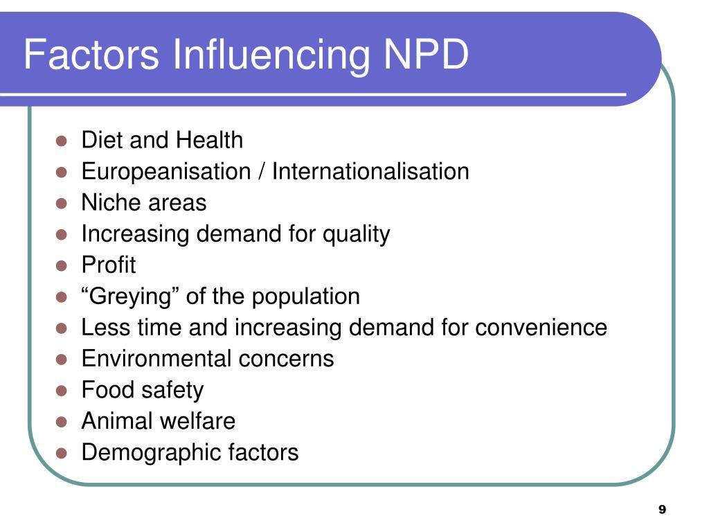 Factors Influencing NPD