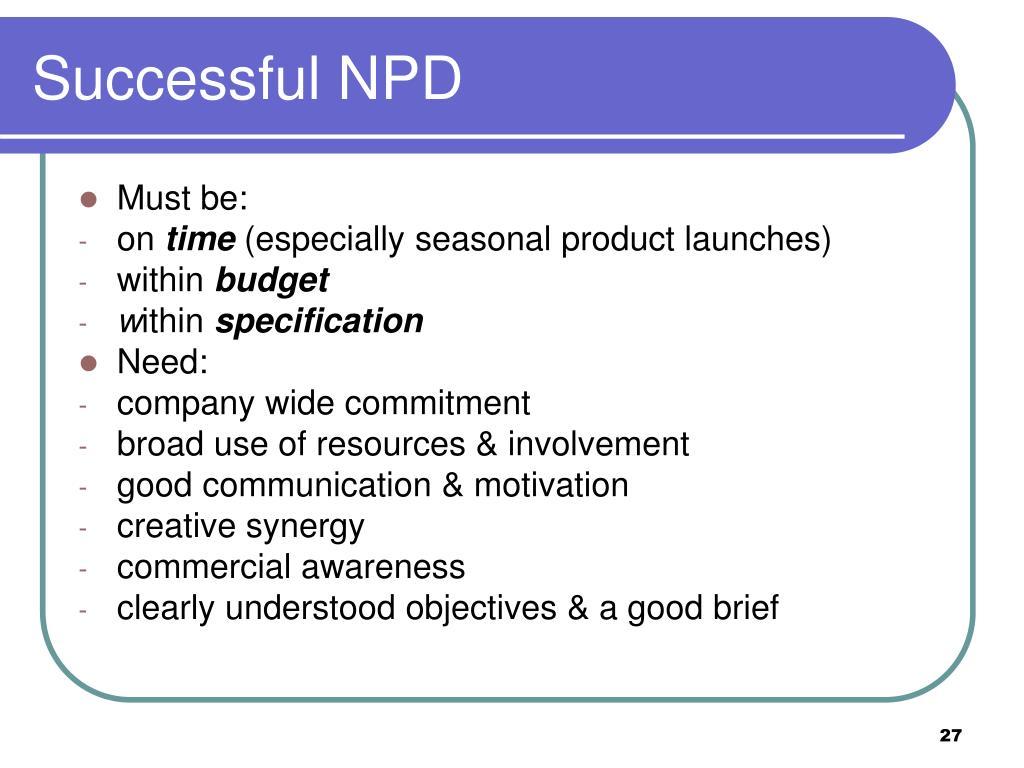 Successful NPD