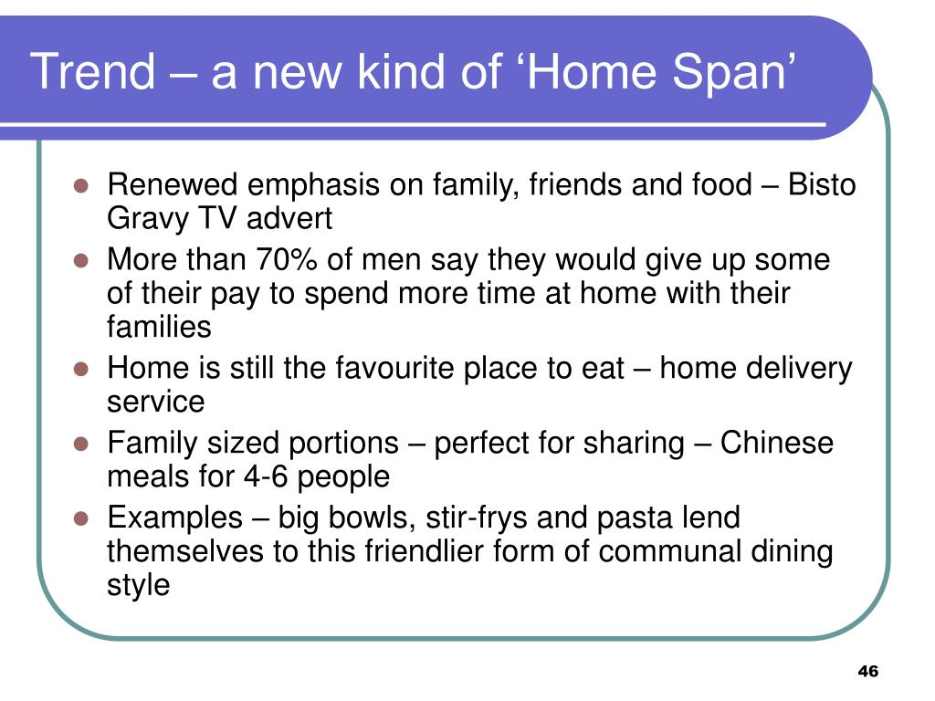 Trend – a new kind of 'Home Span'