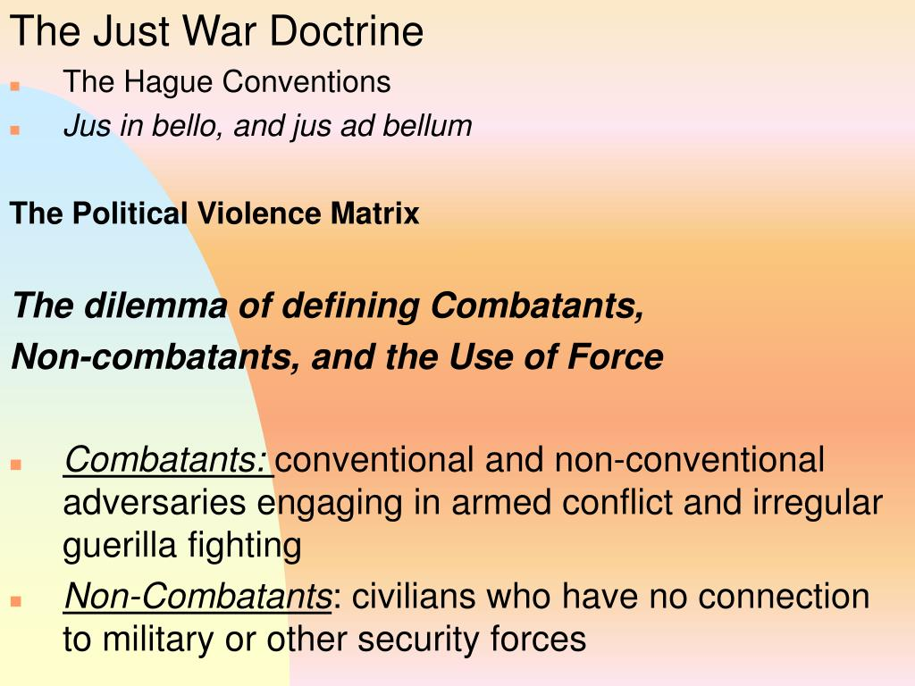 The Just War Doctrine