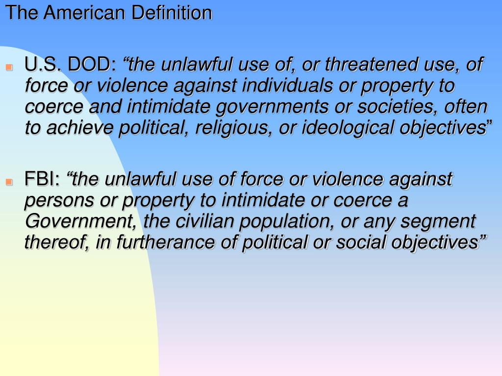 The American Definition