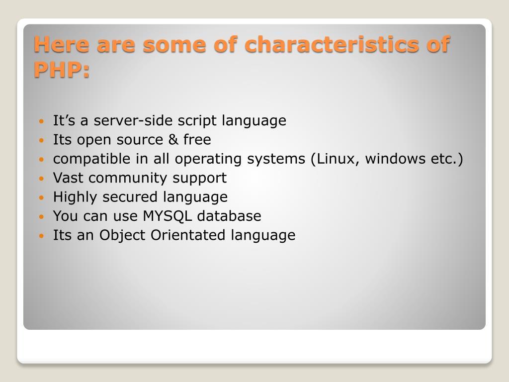 It's a server-side script language