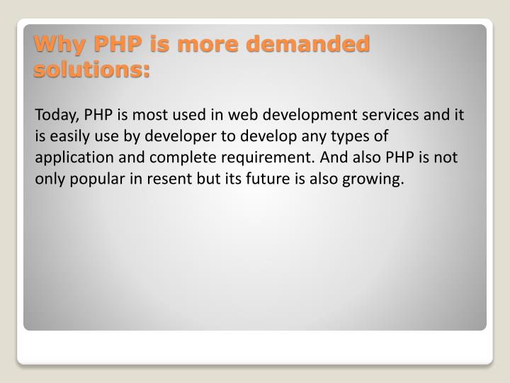 Why php is more demanded solutions