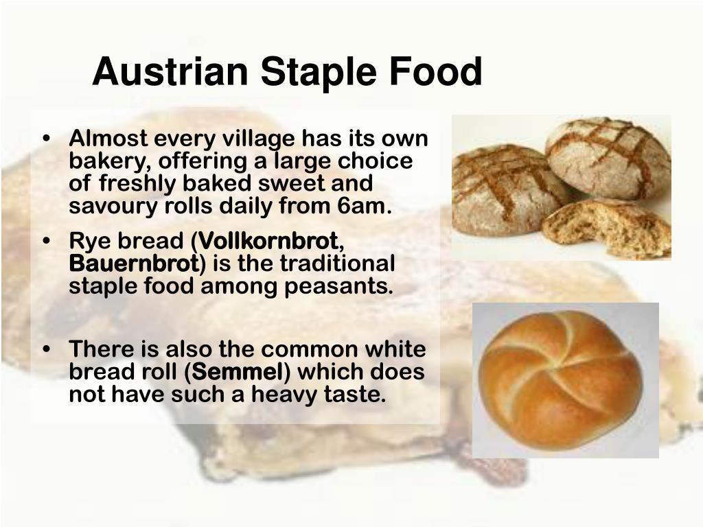 Austrian Staple Food