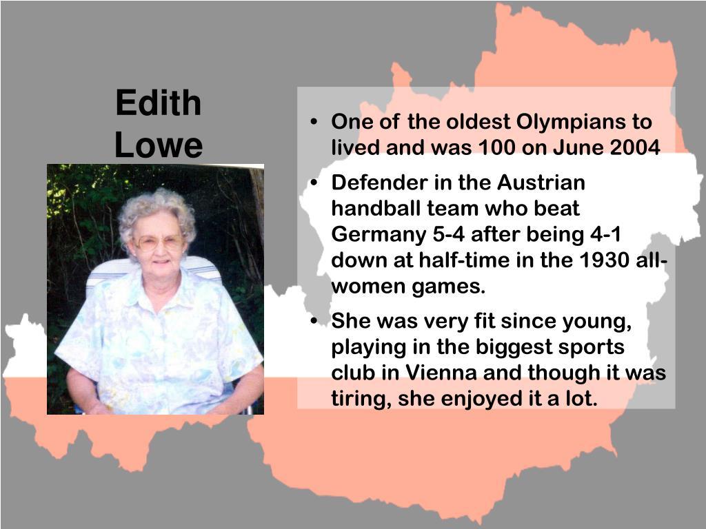 Edith            Lowe