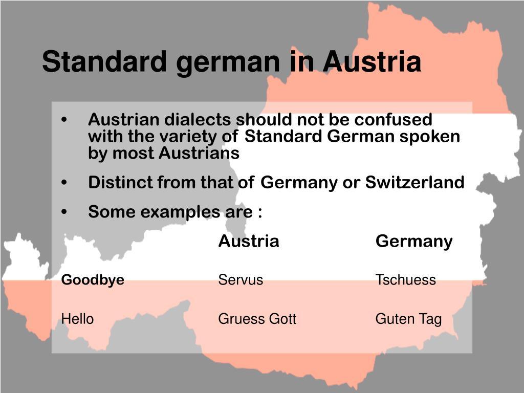 Standard german in Austria