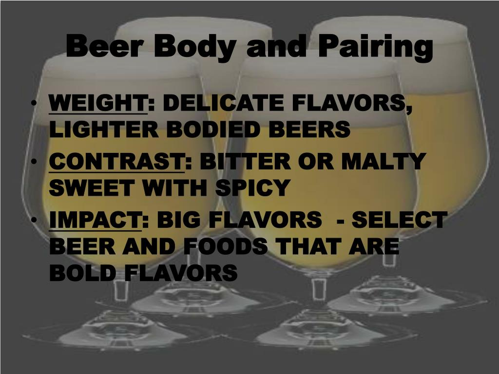 Beer Body and Pairing