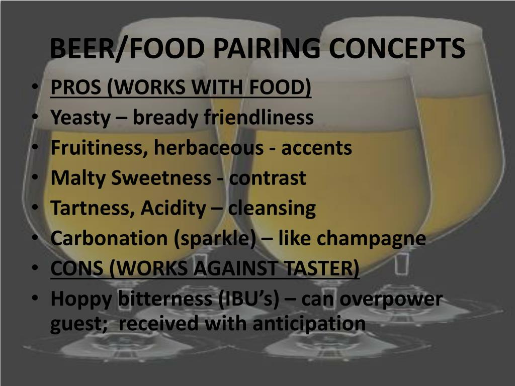 BEER/FOOD PAIRING CONCEPTS