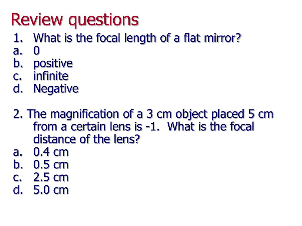 Ppt chapter 23 powerpoint presentation id 640168 for Mirror questions