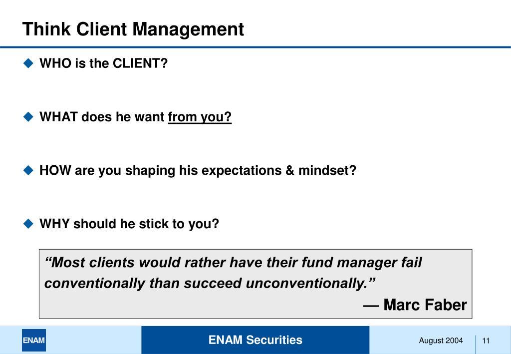Think Client Management
