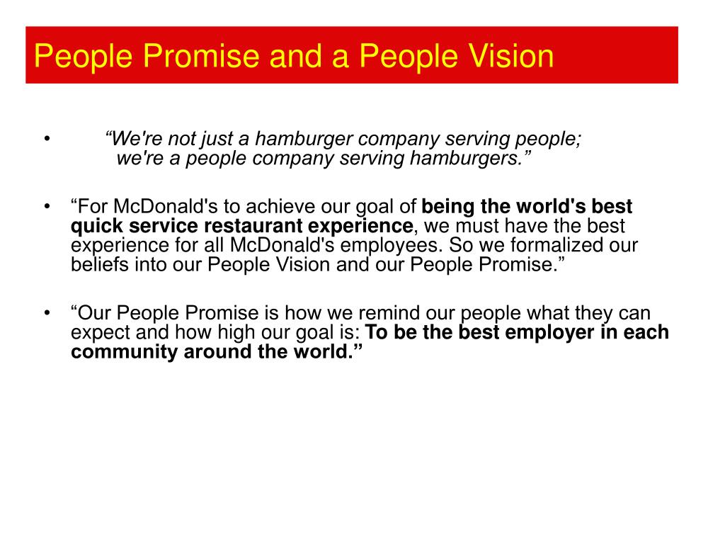 People Promise and a People Vision