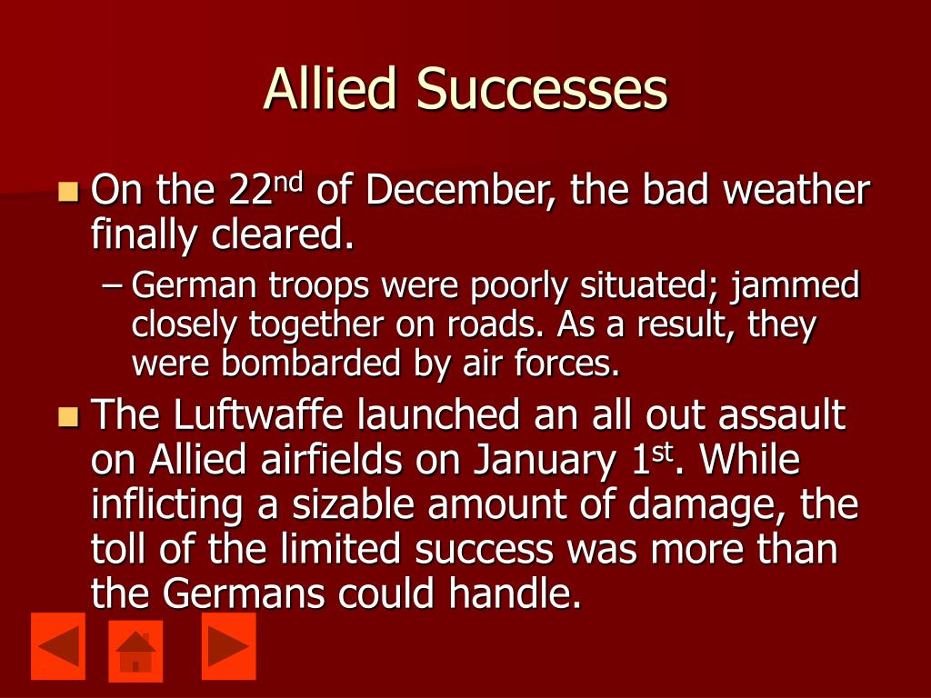 Allied Successes