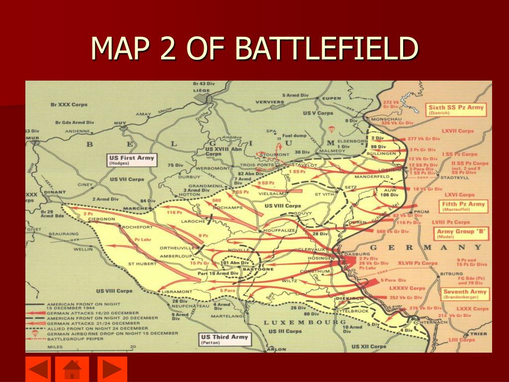 MAP 2 OF BATTLEFIELD