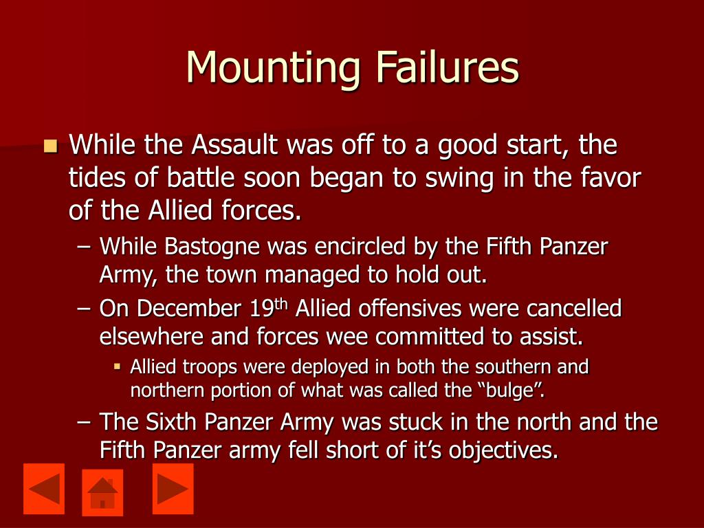 Mounting Failures