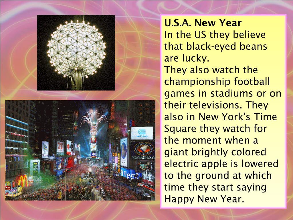 U.S.A. New Year