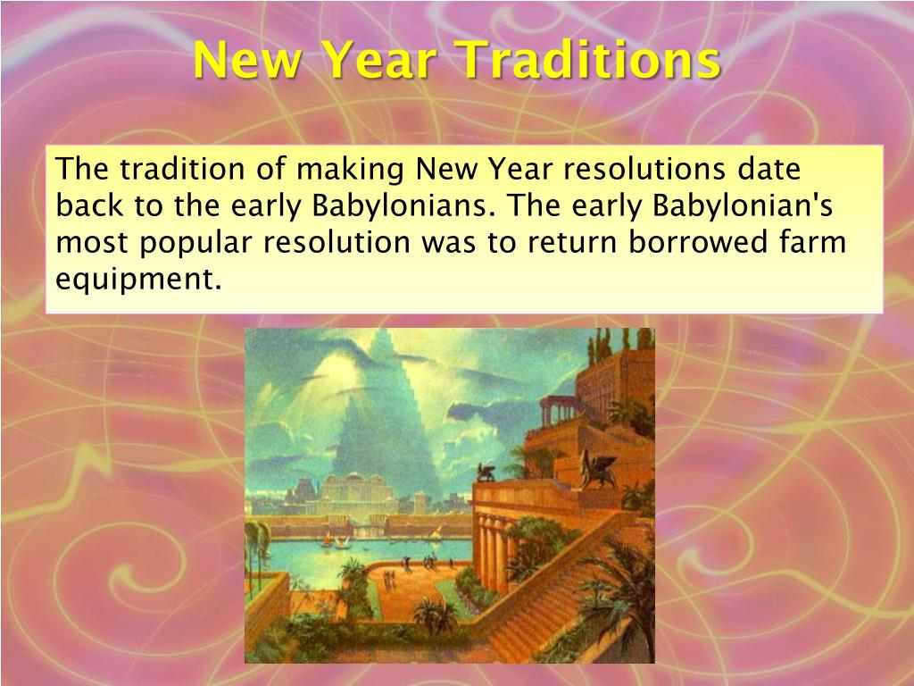New Year Traditions