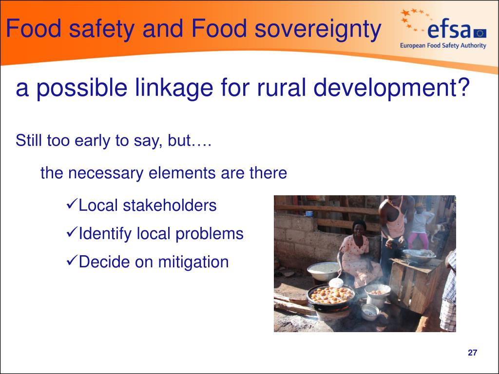 Food safety and Food sovereignty