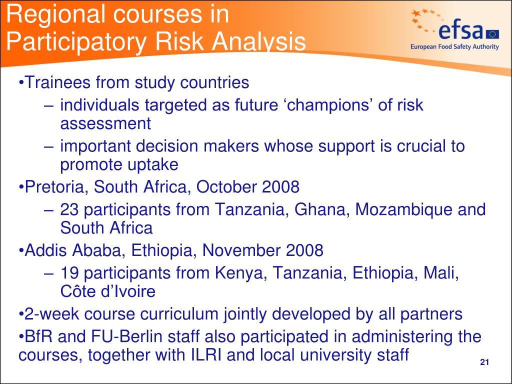 Regional courses in