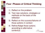 four phases of critical thinking