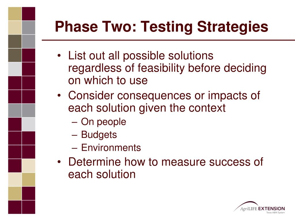 Phase Two: Testing Strategies