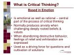 what is critical thinking11