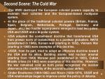 second scene the cold war