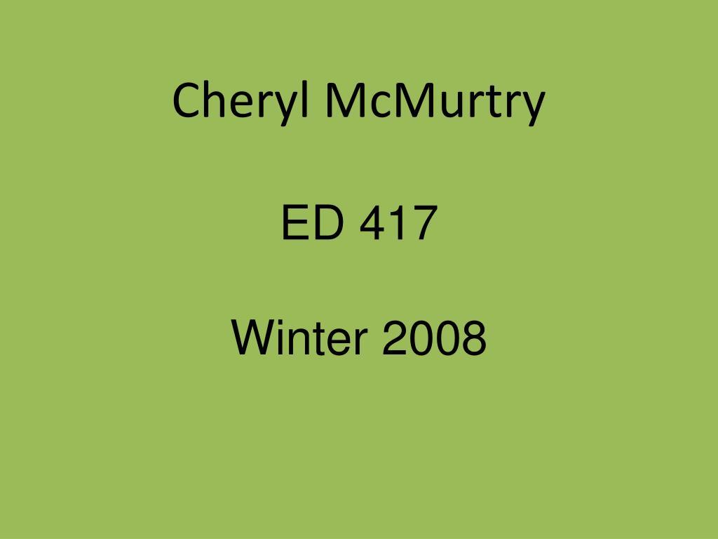 Cheryl McMurtry
