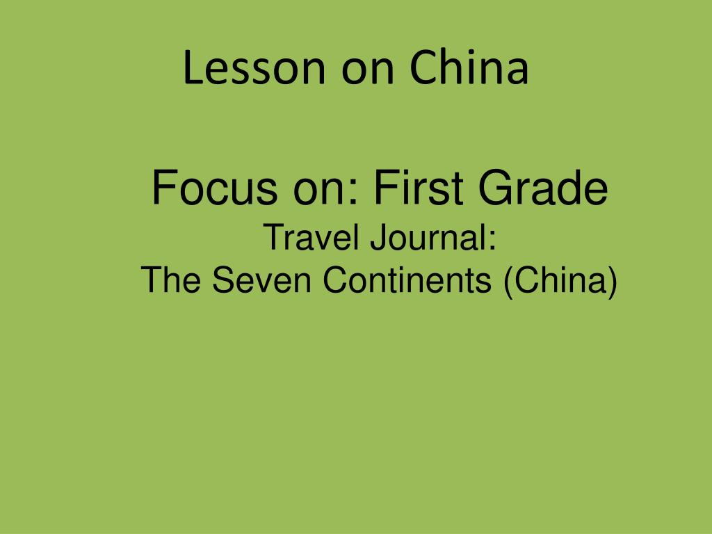 Lesson on China
