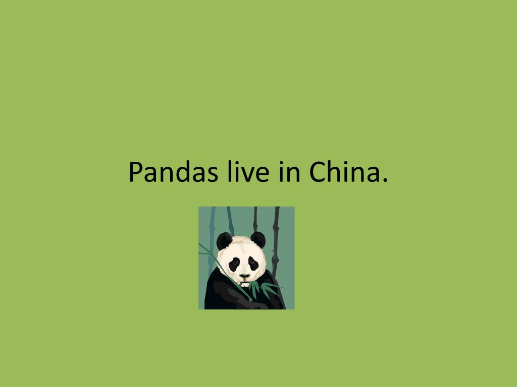 Pandas live in China.