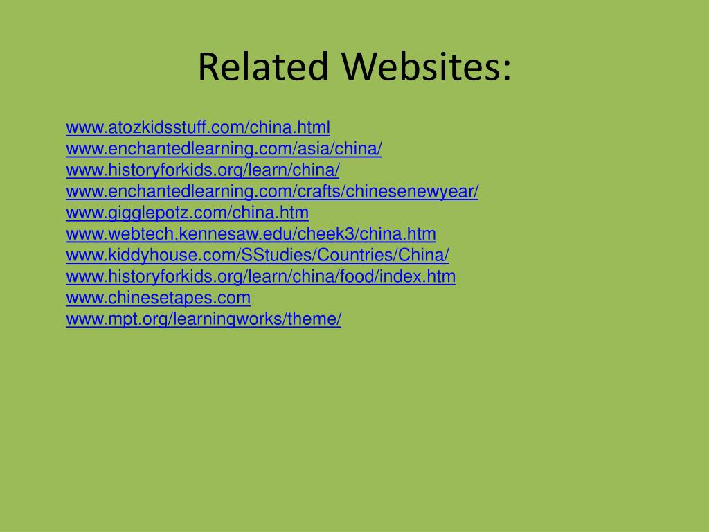 Related Websites: