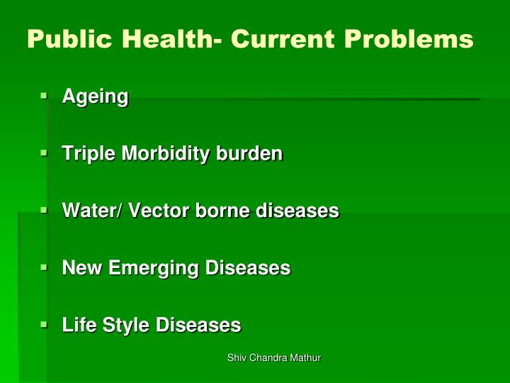 Public health current problems