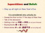 superstitions and beliefs