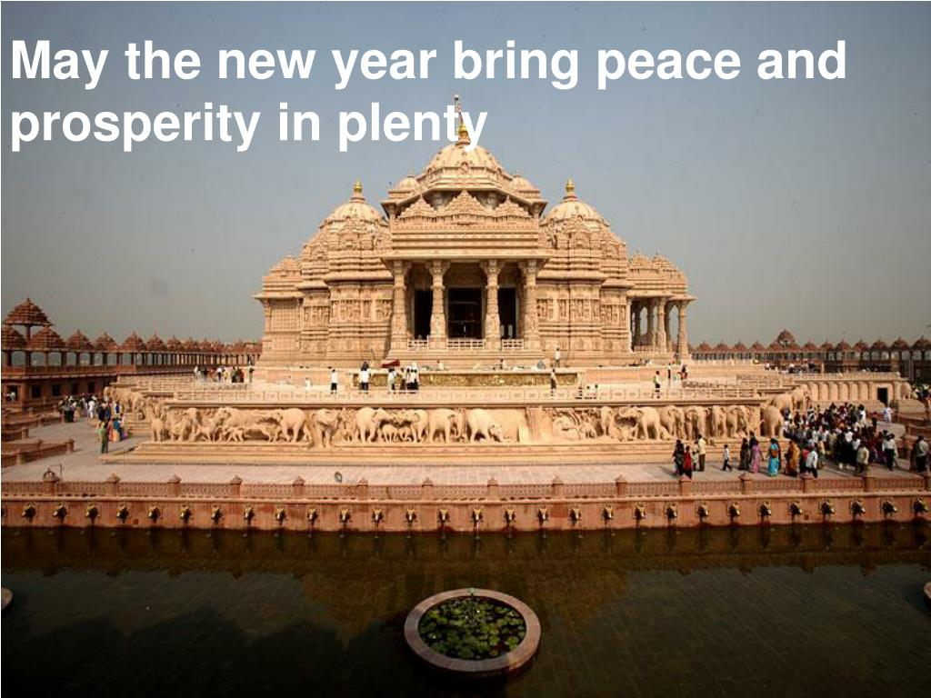 May the new year bring peace and