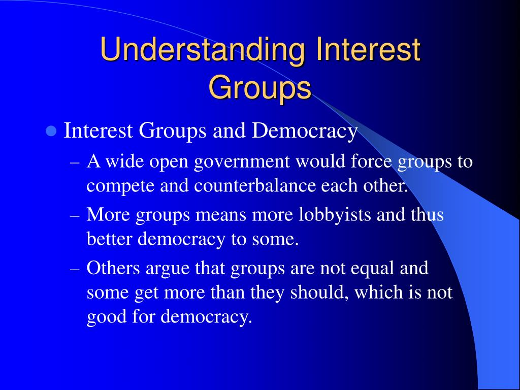 Understanding Interest Groups