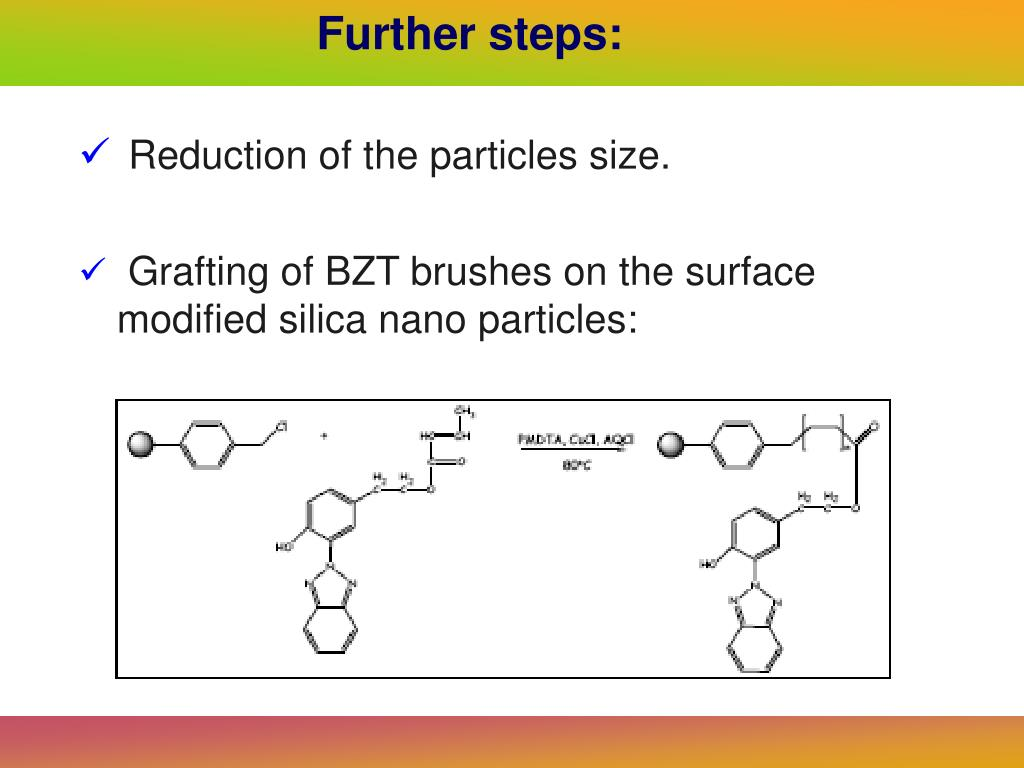Reduction of the particles size.