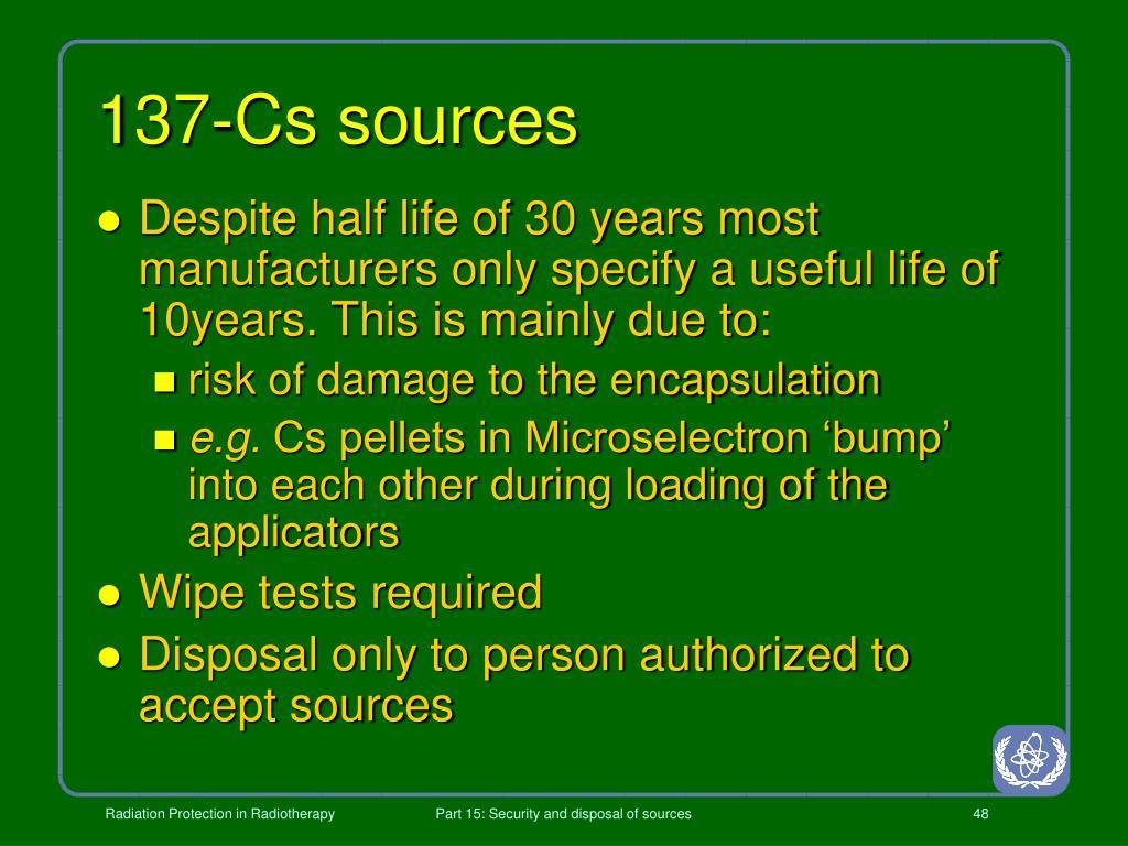 137-Cs sources
