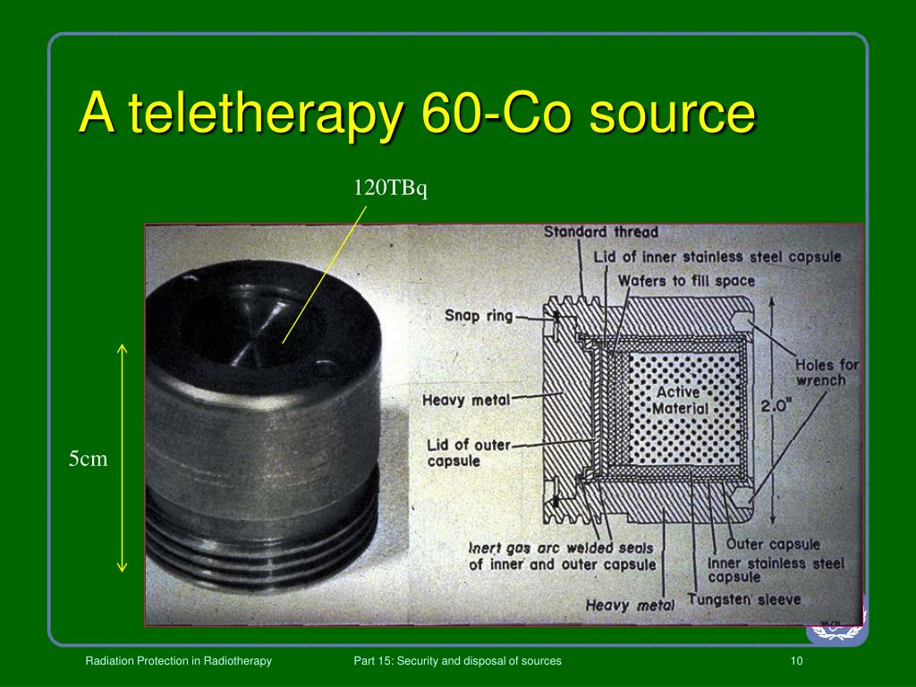 A teletherapy 60-Co source