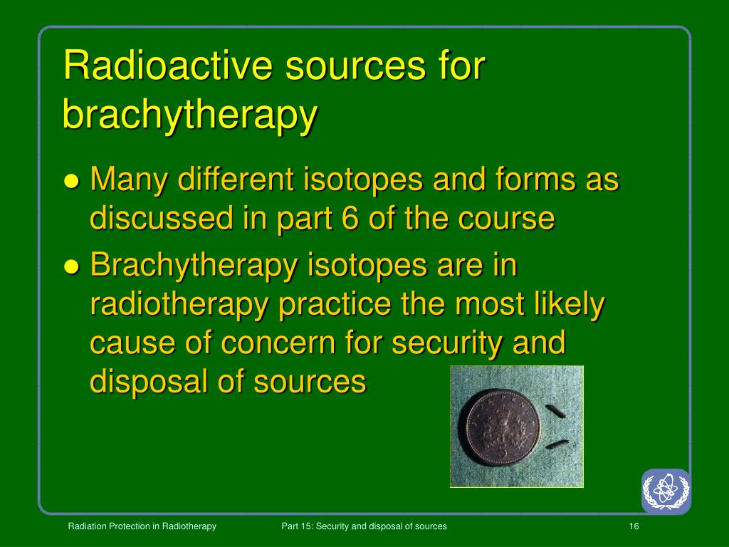 Radioactive sources for brachytherapy