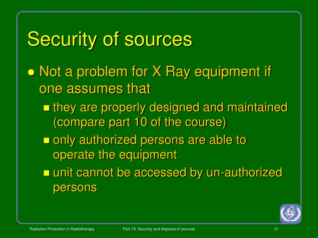 Security of sources