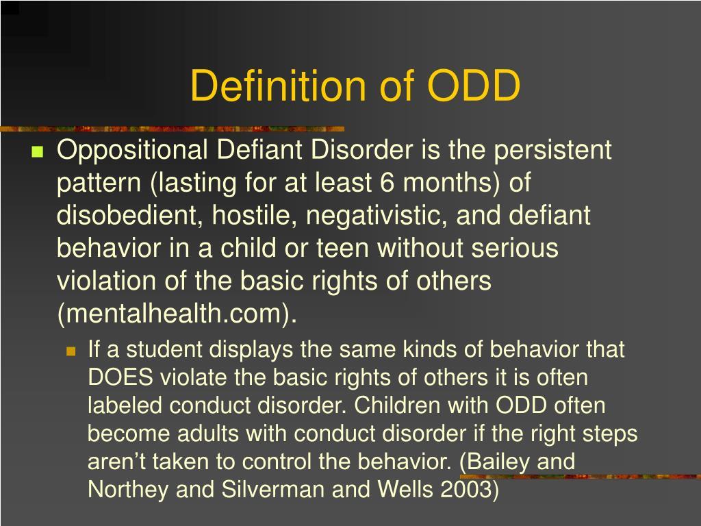 Definition of ODD