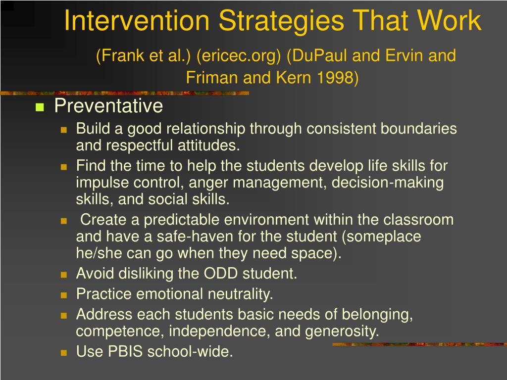 Intervention Strategies That Work