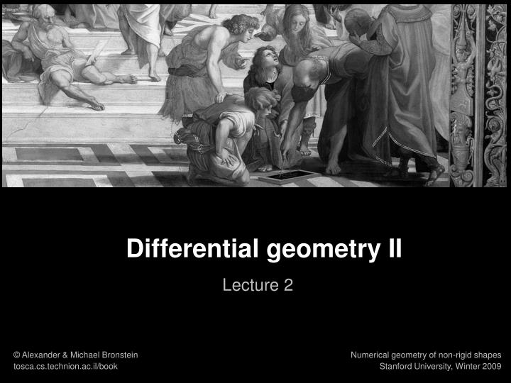 Differential geometry II